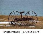 A Vintage Rusty Hay Rake...