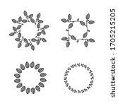 hand drawn decorative wreaths....   Shutterstock .eps vector #1705215205