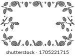 hand drawn decorative wreath....   Shutterstock .eps vector #1705221715