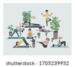 illustration set of self... | Shutterstock .eps vector #1705239952