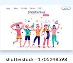 sports fans vector website...   Shutterstock .eps vector #1705248598