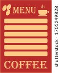 template for text for coffee...   Shutterstock .eps vector #1705249828