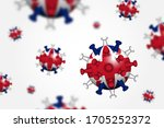 covid 19 . 3d floating corona... | Shutterstock .eps vector #1705252372