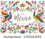 colorful mexican traditional... | Shutterstock .eps vector #1705263292