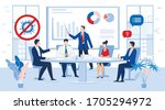 business people team in face... | Shutterstock .eps vector #1705294972