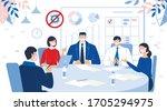 office teamwork. business... | Shutterstock .eps vector #1705294975