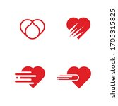 Creative Heart Logo Set  Red...