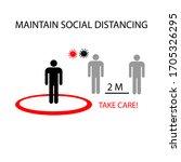 maintain social distance. take... | Shutterstock .eps vector #1705326295