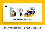 characters watching online... | Shutterstock .eps vector #1705348735