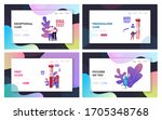 express blood test landing page ...   Shutterstock .eps vector #1705348768