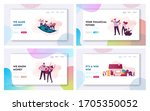 characters conduct auction and... | Shutterstock .eps vector #1705350052