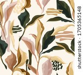 elegant seamless patterns with... | Shutterstock .eps vector #1705365148