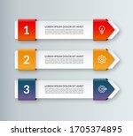 modern minimal arrow elements... | Shutterstock .eps vector #1705374895