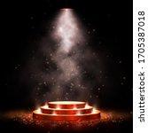 podium with lighting. scene for ...   Shutterstock .eps vector #1705387018