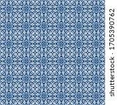traditional seamless blue... | Shutterstock . vector #1705390762