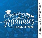 congratulations graduates 2020...   Shutterstock .eps vector #1705428442