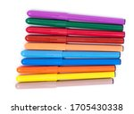 Bunch Of Colorful Felt Pen...