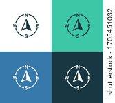 compass vector color icon set | Shutterstock .eps vector #1705451032