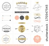 design graphic elements. gold... | Shutterstock .eps vector #170547545