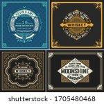set of 4 vintage labels. vector ... | Shutterstock .eps vector #1705480468
