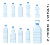 collection of plastic water... | Shutterstock .eps vector #1705508758