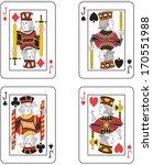 four jacks. original design | Shutterstock . vector #170551988