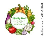 vegetables  healthy greenery... | Shutterstock .eps vector #1705550878