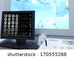 Stock photo x ray examination control office in ct 170555288