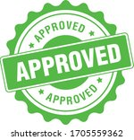 approved stamp vector  rubber... | Shutterstock .eps vector #1705559362