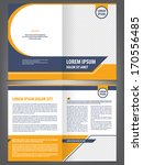 vector empty brochure template... | Shutterstock .eps vector #170556485