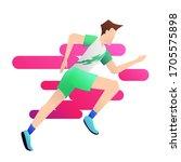 vector illustration of runner... | Shutterstock .eps vector #1705575898