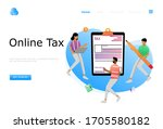 online tax payment vector...