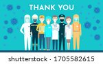 postcard. thank you. respect...   Shutterstock .eps vector #1705582615