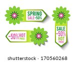 three spring sales labels  ... | Shutterstock .eps vector #170560268