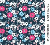 elegant floral pattern in small ... | Shutterstock .eps vector #1705646782