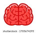 human brain front view. vector...   Shutterstock .eps vector #1705674295