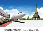 airplane travel background ... | Shutterstock . vector #170567846