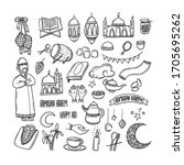 collection of doodles for... | Shutterstock .eps vector #1705695262
