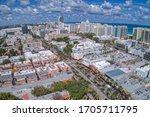 Aerial View Of Miami Beach  A...