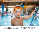 activities on the pool. cute... | Shutterstock . vector #170572172