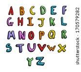 cartoon alphabet | Shutterstock . vector #170579282