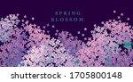 elegant decorative lilac flower ...   Shutterstock .eps vector #1705800148