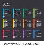 2022 calendar   illustration.... | Shutterstock .eps vector #1705803538