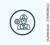 oil worker line icon. linear... | Shutterstock .eps vector #1705828612