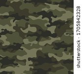 camouflage seamless pattern... | Shutterstock .eps vector #1705842328