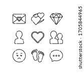 emoji icons set line   vector | Shutterstock .eps vector #1705844965