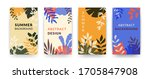 abstract botanical backgrounds. ... | Shutterstock .eps vector #1705847908