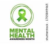mental health awareness month... | Shutterstock .eps vector #1705849465