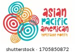 asian pacific american heritage ...   Shutterstock .eps vector #1705850872