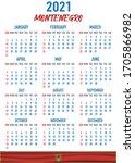2021 year calendar with...   Shutterstock .eps vector #1705866982